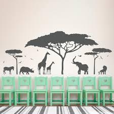 african safari wall decal vinyl art sticker zoo nature giraffe nursery elephant removable wallpaper bedroom decor diy kid ww 189 in wall stickers from home  on elephant and giraffe nursery wall art with african safari wall decal vinyl art sticker zoo nature giraffe