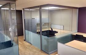 glass office wall. Open Corner Glass Office Wall System - View Series T