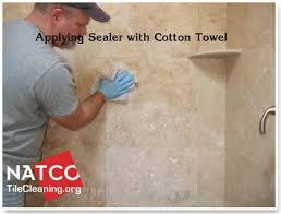 sealing travetine tile shower
