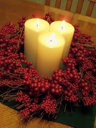 Christmas Candle Centerpieces Candle