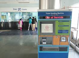 Metro Ticket Vending Machines Mesmerizing Out Of Service Vending Machine Picture Of Delhi Metro New Delhi