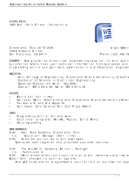 Resume Writing For Engineering Students 10 Aerospace Engineering Student Resume Resume Letter
