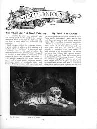 article the lost art of sandpainting the connoisseur 1929 in 7 parts