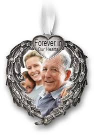 in loving memory gift set ceramic frame and memorial ornament with the loving saying
