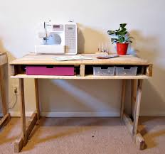 pallet furniture desk. This Desk Could Work For Working Or As A Craft Station. I Love The  Drawer Area On Bottom Side Of Desk. It Is Very Versatile Piece. Pallet Furniture