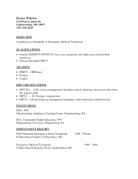 Emt Basic Resume Examples Easy format Of Resume New Firefighter Paramedic Resume Example 2