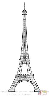 Small Picture Eiffel Tower La tour Eiffel coloring page Free Printable