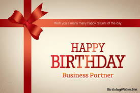 Happy Birthday Business Card Birthday Wishes For Business Partner And Greeting Cards