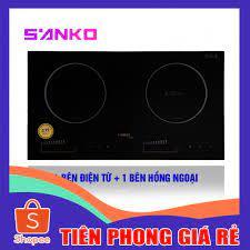 GIÁ RẺ ] Bếp Điện Từ và Hồng Ngoại Đôi Sanko Z-Cooker Hàng Cao Cấp