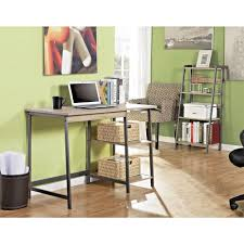 office desk with bookshelf. Laptop Office Desk Bookcase Set Computer Table Workstation Bookshelf Furniture With A