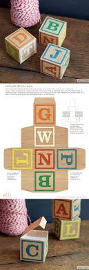 Vintage Block Box Template Cameo Ideas Alphabet Blocks