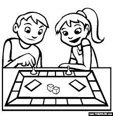 Small Picture Board Game Coloring Page Free Board Game Online Coloring
