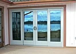 four panel sliding door 4 glass patio doors wood closet cost beautiful pane four panel sliding door