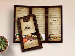 Vintage Restaurant Trifold Menu By Gilang Tito Dharmawan On