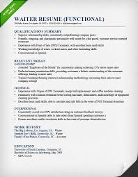 Example Of Resume For Waitress Best Waiter Functional Resume Server Resume Examples Ateneuarenyencorg