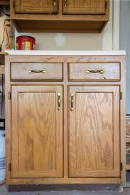 Restain Oak Kitchen Cabinets Enchanting Painted Furniture Removing Wood Grain For A Smooth Finish