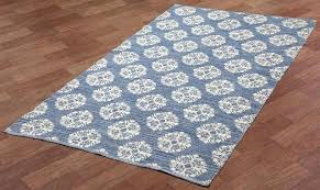 blue medallion rug cotton jacquard contemporary area rugs by st trading print living colors austin gray