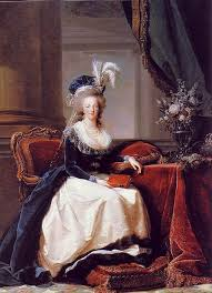 portrait of marie antoinette with rose 1788