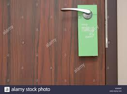 please lock door sign. Please Make Up My Room Sign On Door Knob In Hotel Lock