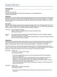 Sample Resume Resume Diploma