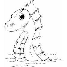 Sea Serpent Coloring Page