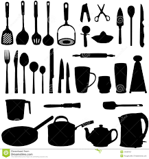 kitchen utensils images. Delighful Images Kitchen Utensils Silhouette On Images