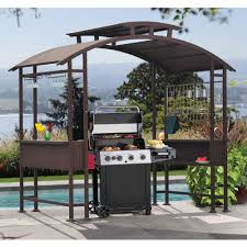 sunjoy mouton grill gazebo garden amp outdoor plans canopy throughout deck grill