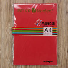 Red Colour Chart Paper Buy Mary A4 Color Printing Paper Color Copy Paper Printing