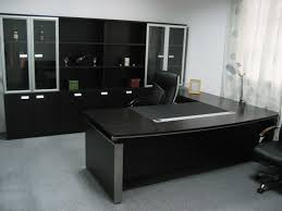 cool gray office furniture. Cool Black Theme Of Elegant Office Furniture Designed Using Spacious Room Concept Equipped With Large Cabinet And L Shaped Desk Gray U