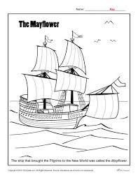 Thanksgiving Coloring Page The Mayflower