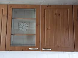 used b q pine effect country style kitchen doors with handles and hinges