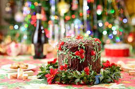 Photos Christmas Cakes Food Holidays