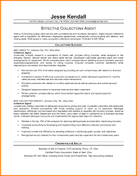 Collector Resume Examples Resume Templates Collection Agency Examples Collections Agent Sample 17
