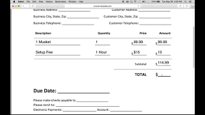 Create An Invoice Free How to Make a Business Invoice Excel PDF Word YouTube 1