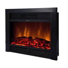 28 5 electric fireplace embedded insert heater glass log flame remote reviews