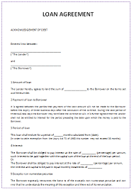 Cash Loan Agreement Sample