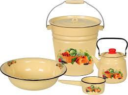 <b>Набор посуды</b> для приготовления <b>СтальЭмаль</b> Урожай ...