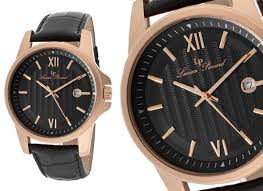 black leather rose gold watch gommap blog 56 99 for lucien piccard breithorn men s watch black leather band black dial