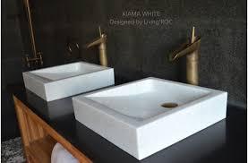 white marble bathroom rectangular