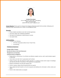Objective Statement For Resume Cv Career Example 1297 X 1672 6