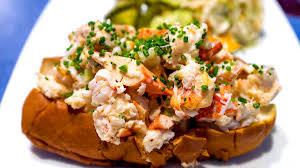 lobster roll at b g oysters bill addison for eater