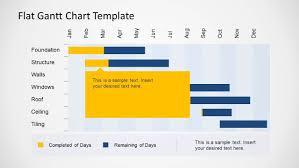 Flat Gantt Chart Template For Powerpoint