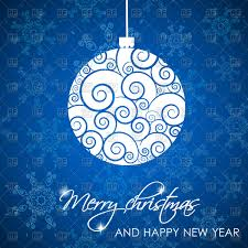 Christmas Card Images Free Christmas Card With Snowflakes And Xmas Ball Vector Illustration Of