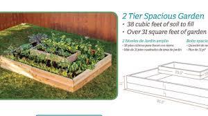 raised garden bed 2 tier setup instructions yardcraft