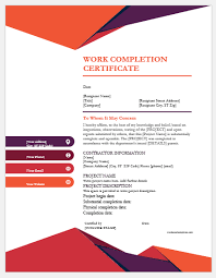 What Is Course Completion Certificate 9 Best Work Completion Certificates For Ms Word Word