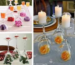 wine or martini glass candle holders and flower keepers. what an idea! The  Arc Store has a wide variety of stemmed glass, come and check us out!