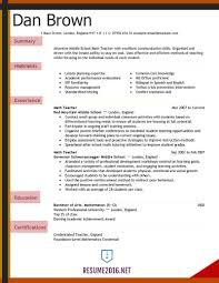 Examples Of Resumes Teacher Resume 2016 For Elementary School