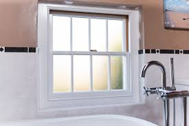 sash window with opaque glass for bathroom