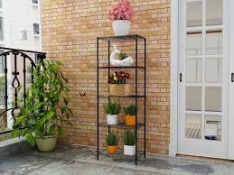 outdoor adjule diy nsf black metal garden flower shelf rack 14 x 21 pictures