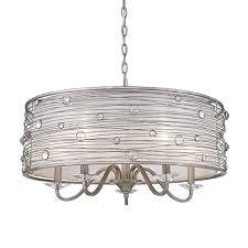 silver five light chandelier hover to zoom